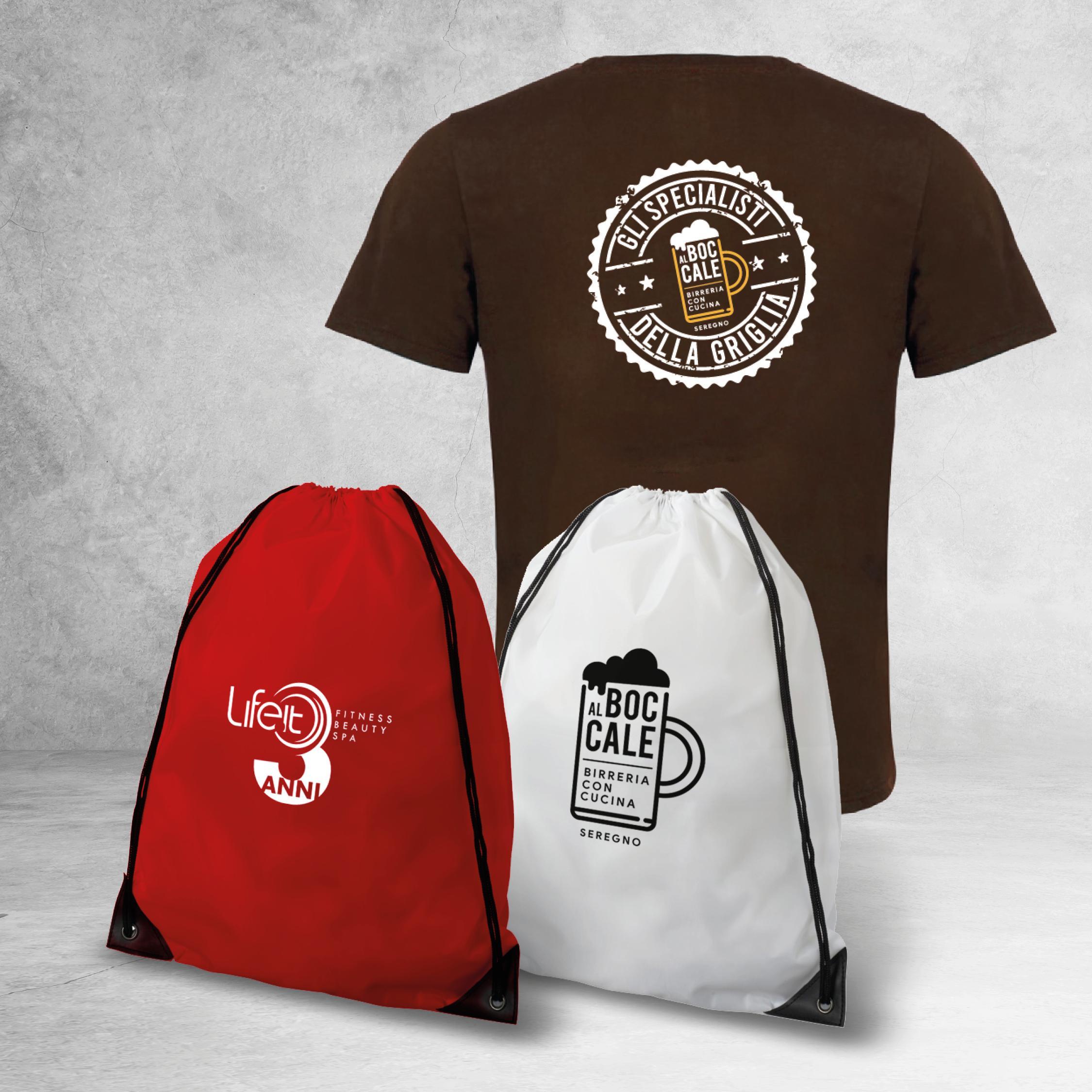 magliette e sacche personalizzate